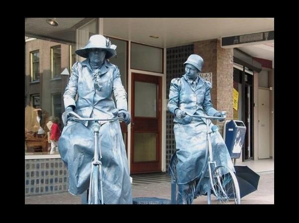Statues vivantes : les artistes de rue